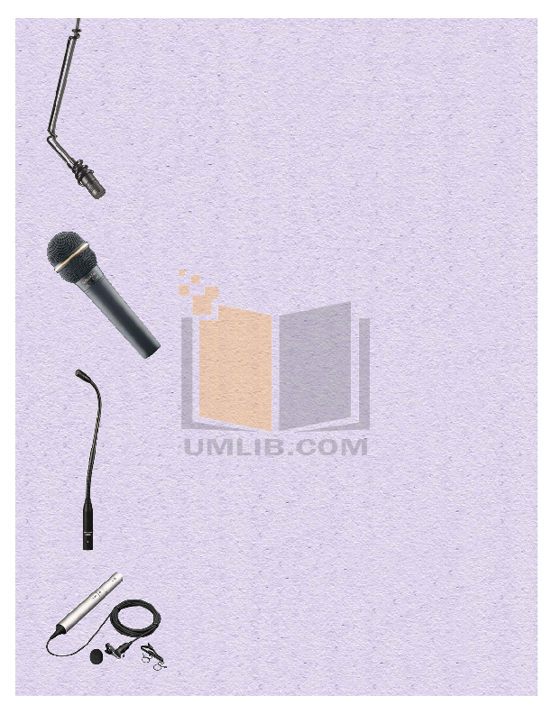 pdf for Crown Other MB-1AL Microphones manual