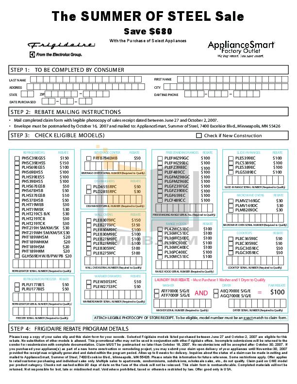 pdf for Frigidaire Refrigerator PHT189HKM manual