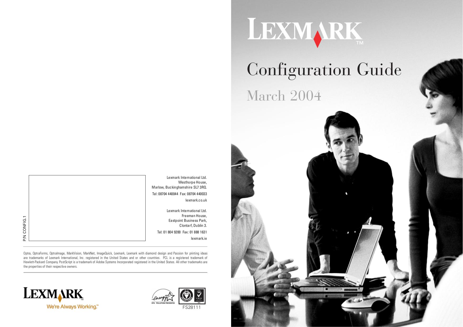 pdf for Lexmark Printer P707 manual