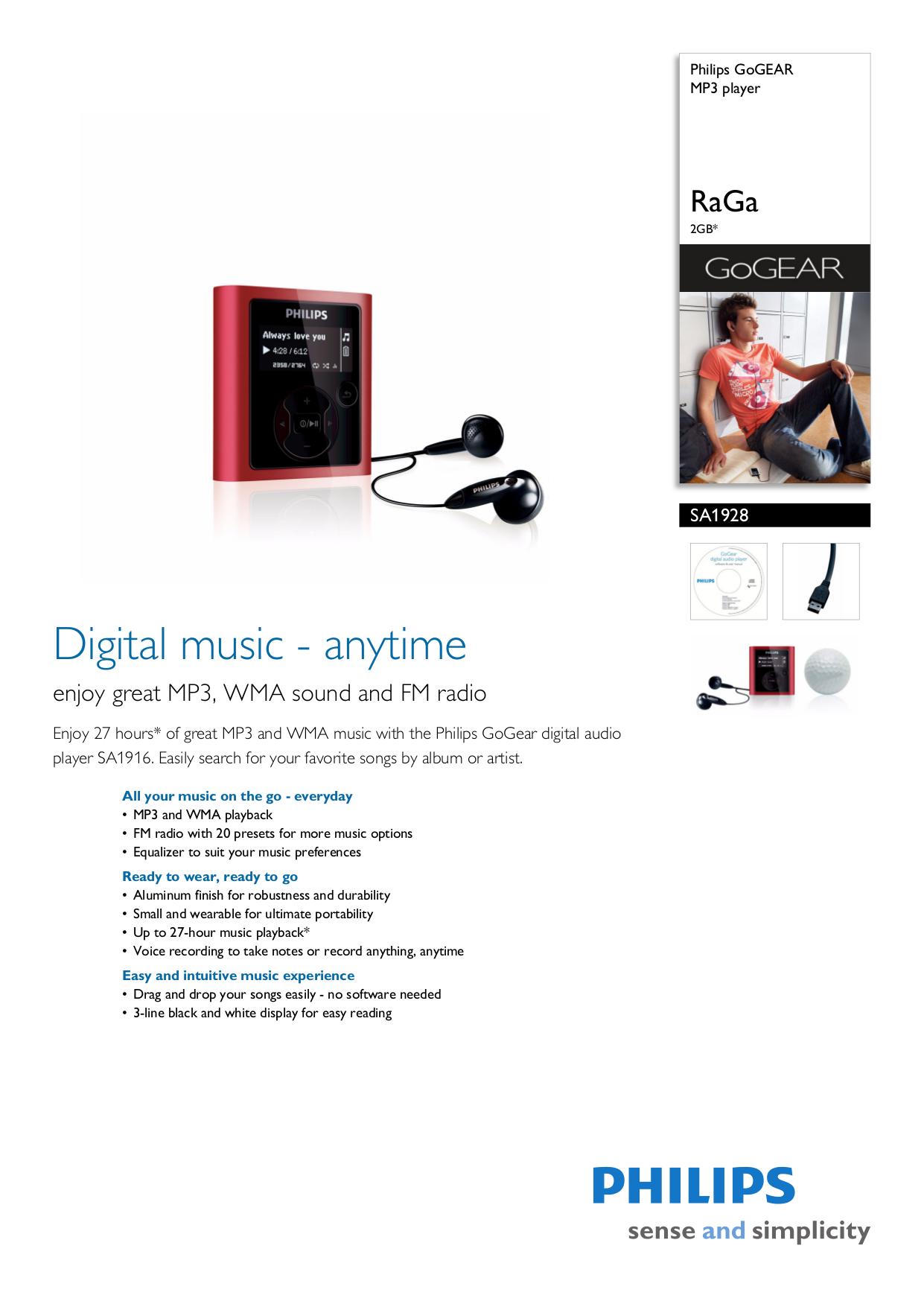 download free pdf for philips gogear sa1928 2gb mp3 player manual rh umlib com Philips GoGear MP3 Player Download philips gogear raga 2gb mp3 player manual