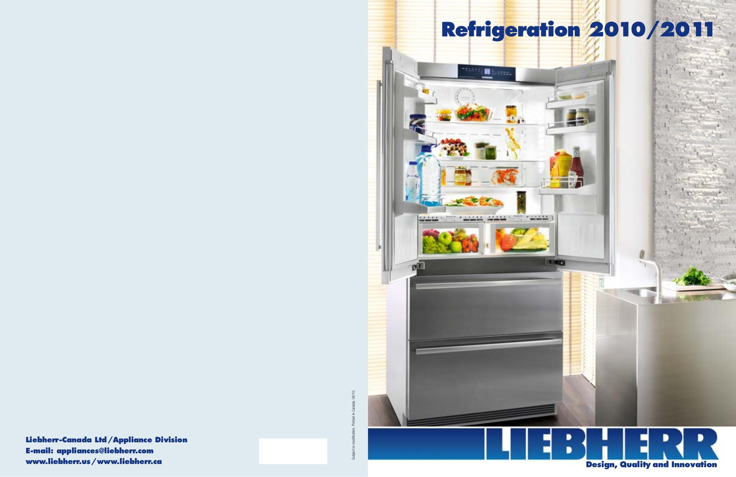 Download free pdf for Liebherr CS 1611 Refrigerator manual