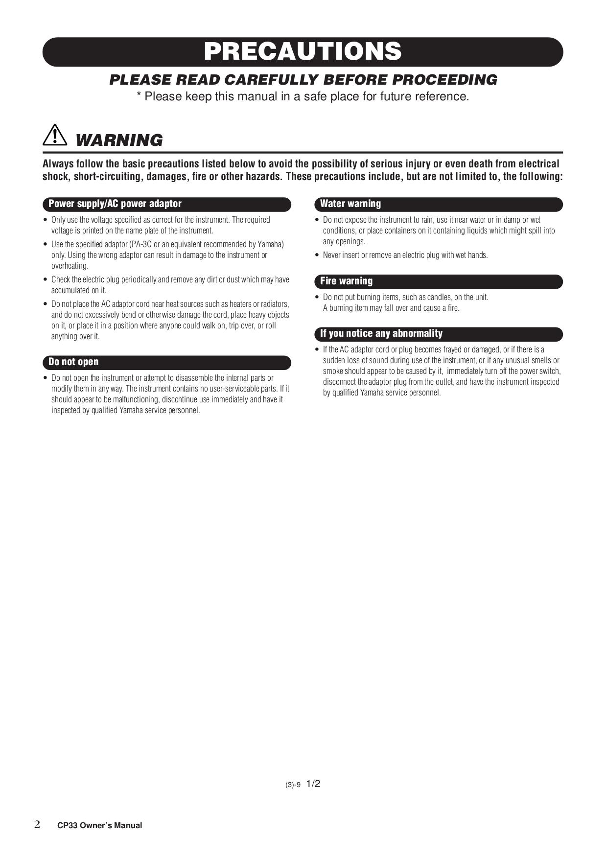 ... Array - pdf manual for yamaha music keyboard cp 30 rh umlib com