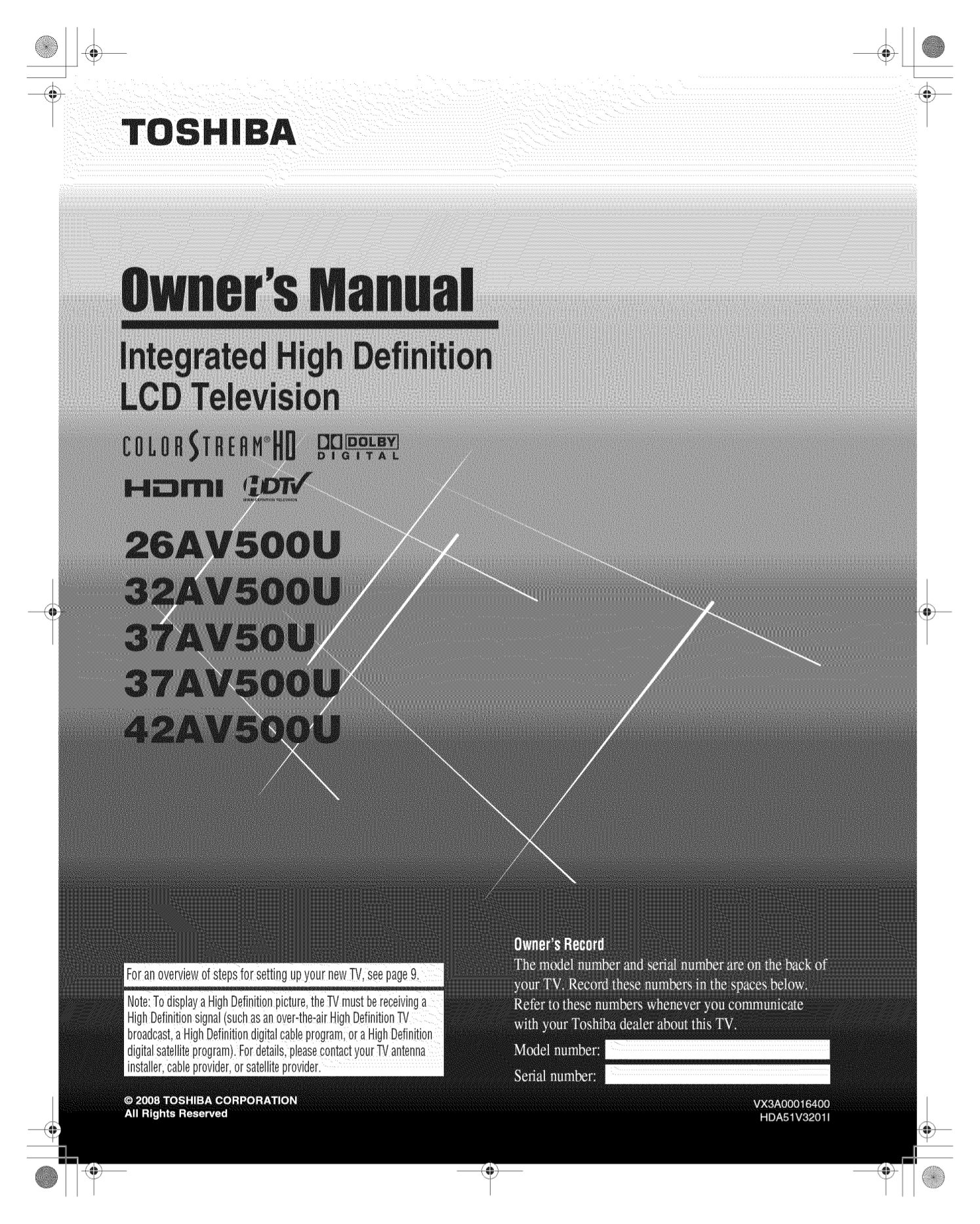 download free pdf for toshiba 32av500u tv manual rh umlib com toshiba 32av500u owners manual Toshiba 32AV500U Service Manual