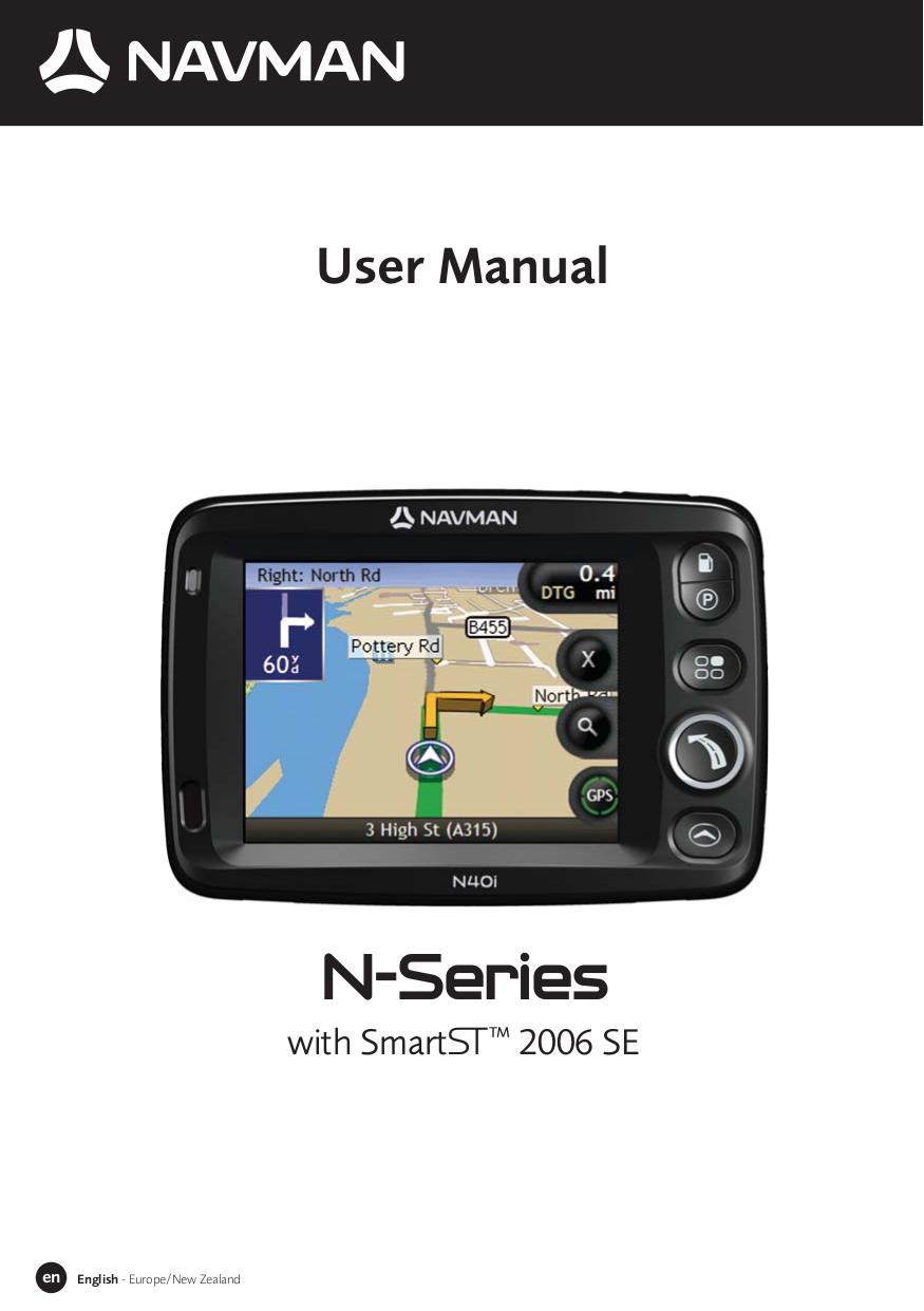 pdf for Navman GPS N20 manual