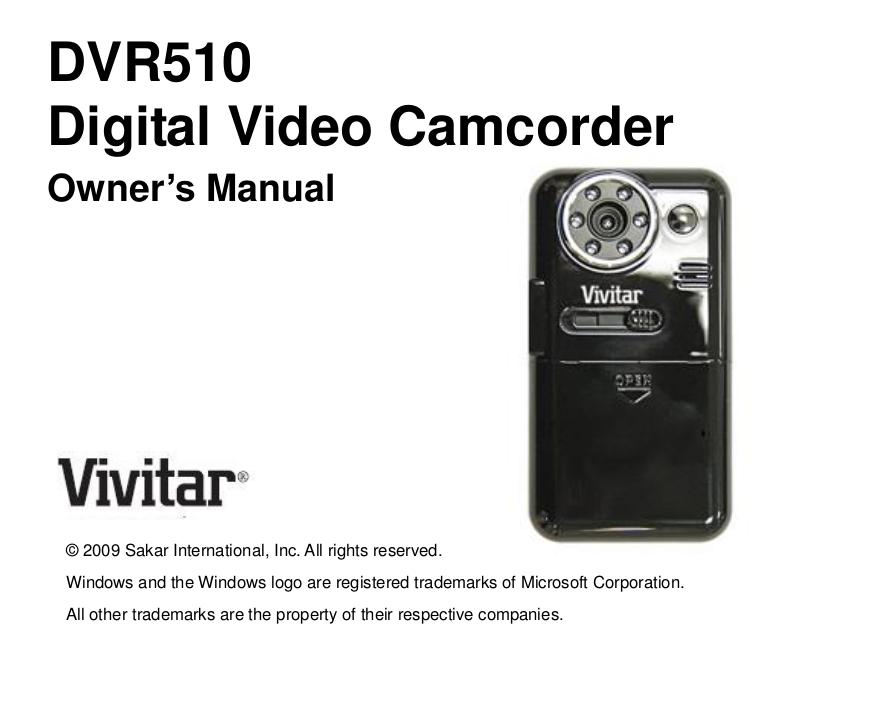 download free pdf for vivitar dvr 510 camcorders manual rh umlib com vivitar dvr786hd action camcorder manual vivitar dvr 426hd camcorder manual