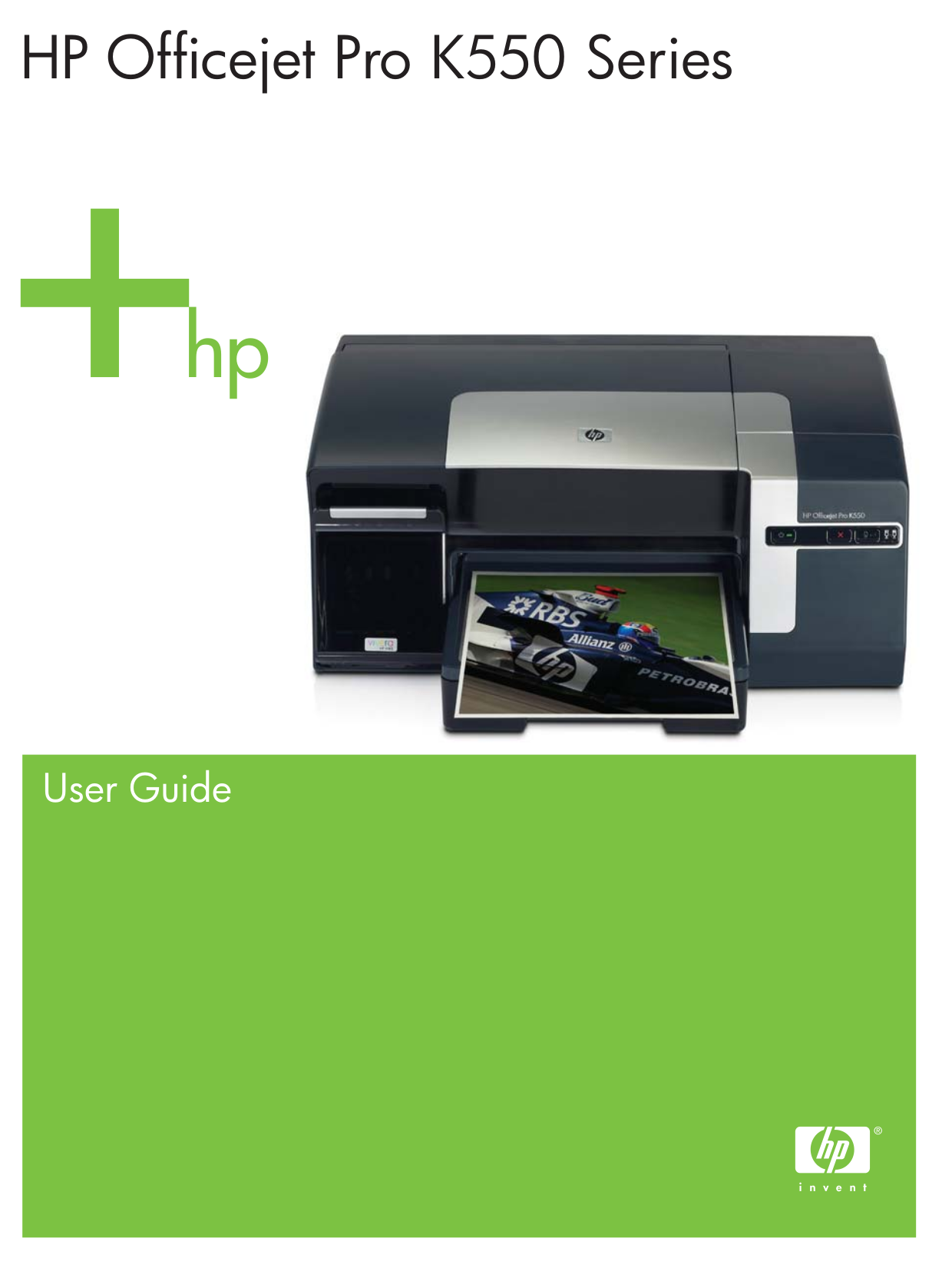pdf for HP Printer Officejet Pro K550dtn manual