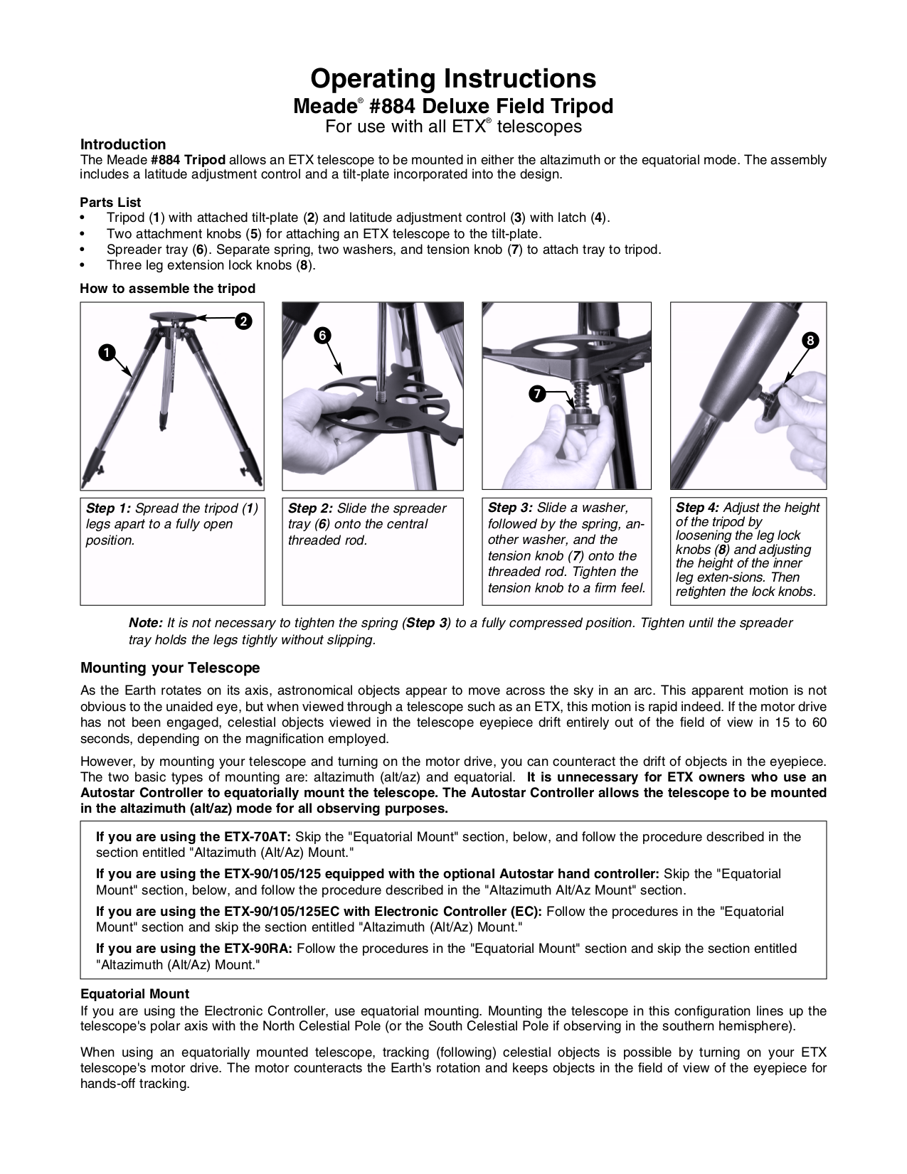 meade etx 125 repair manual