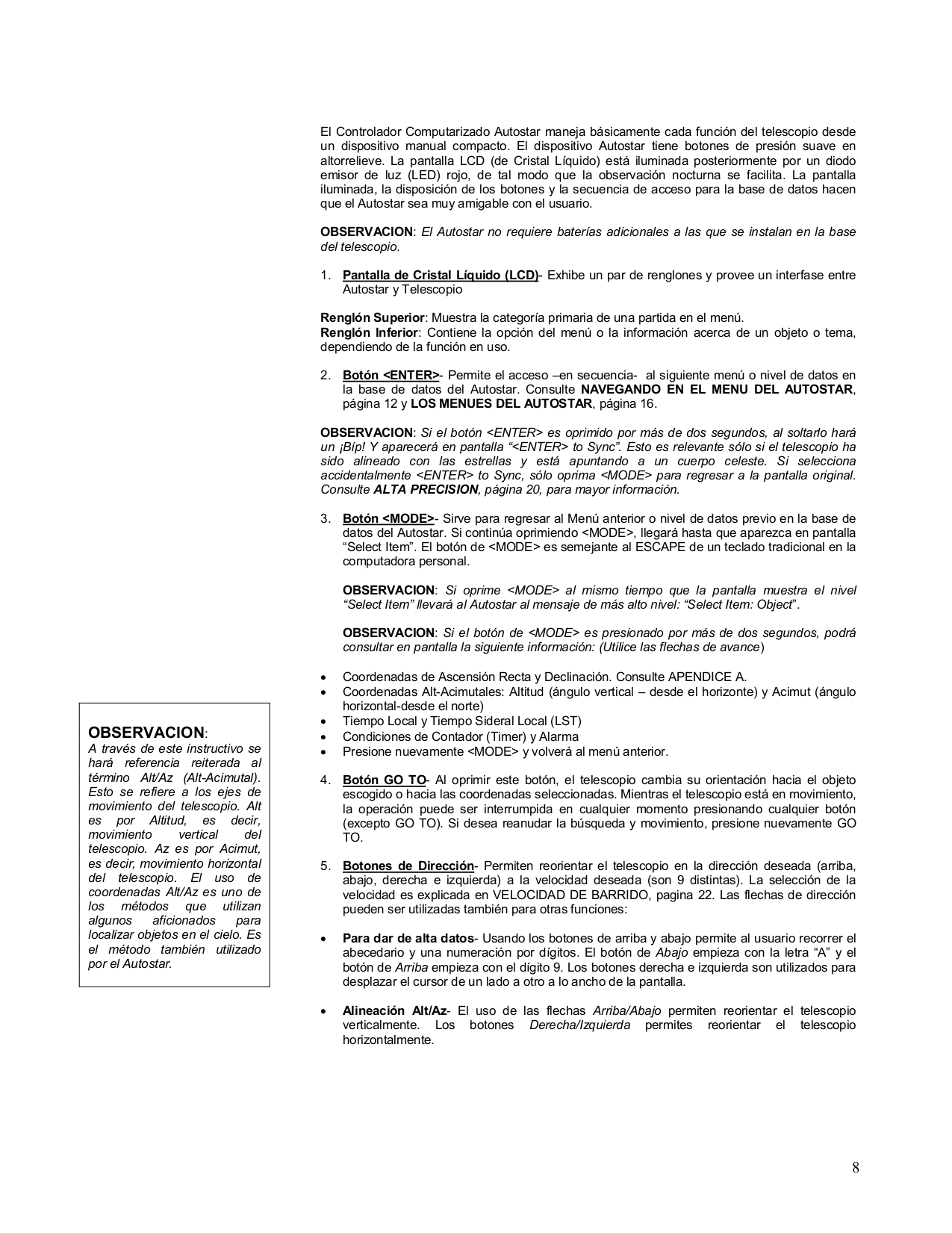 PDF manual for Meade Telescope ETX-70AT