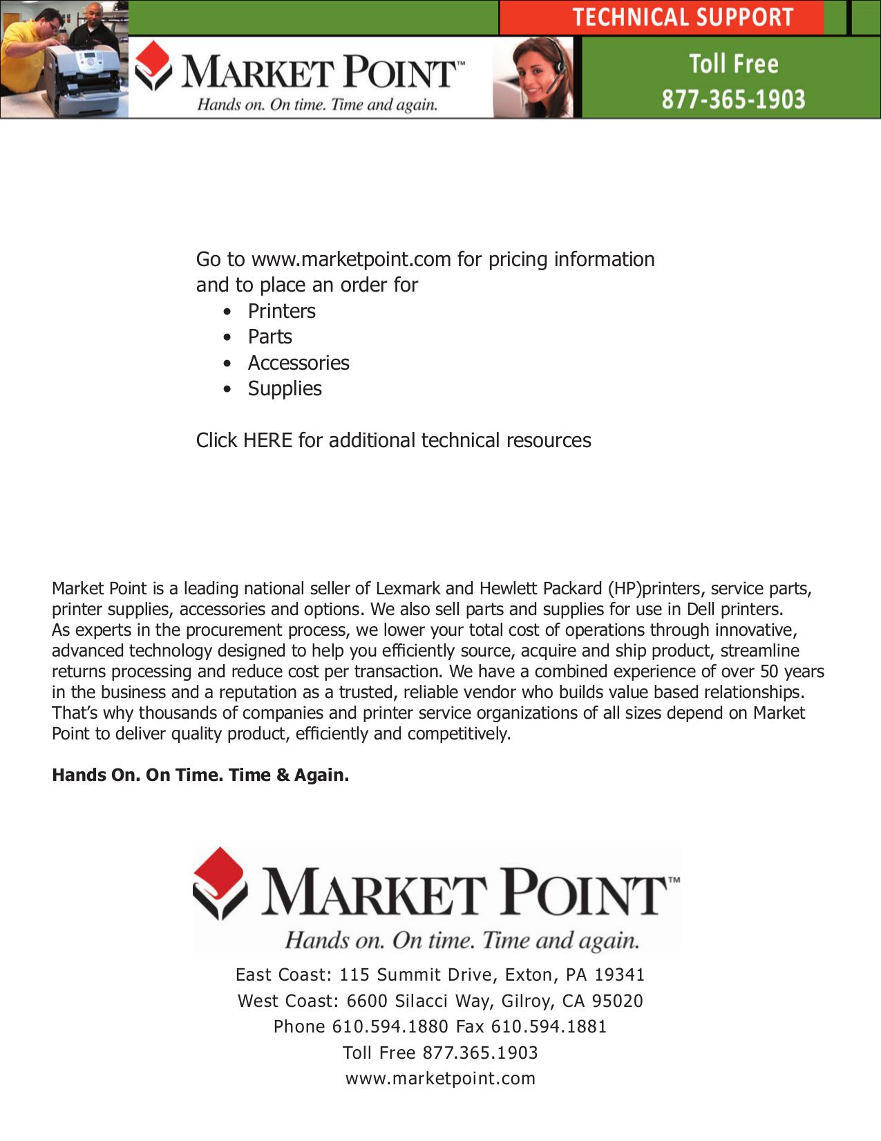 pdf for Lexmark Printer T632n manual