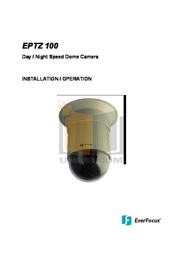 pdf for EverFocus Security Camera EPTZ900 manual