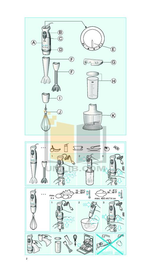 Braun Blender MR5500 pdf page preview