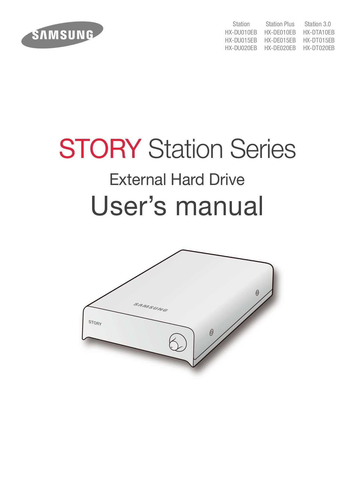 pdf for Samsung Storage HX-DT015EB manual