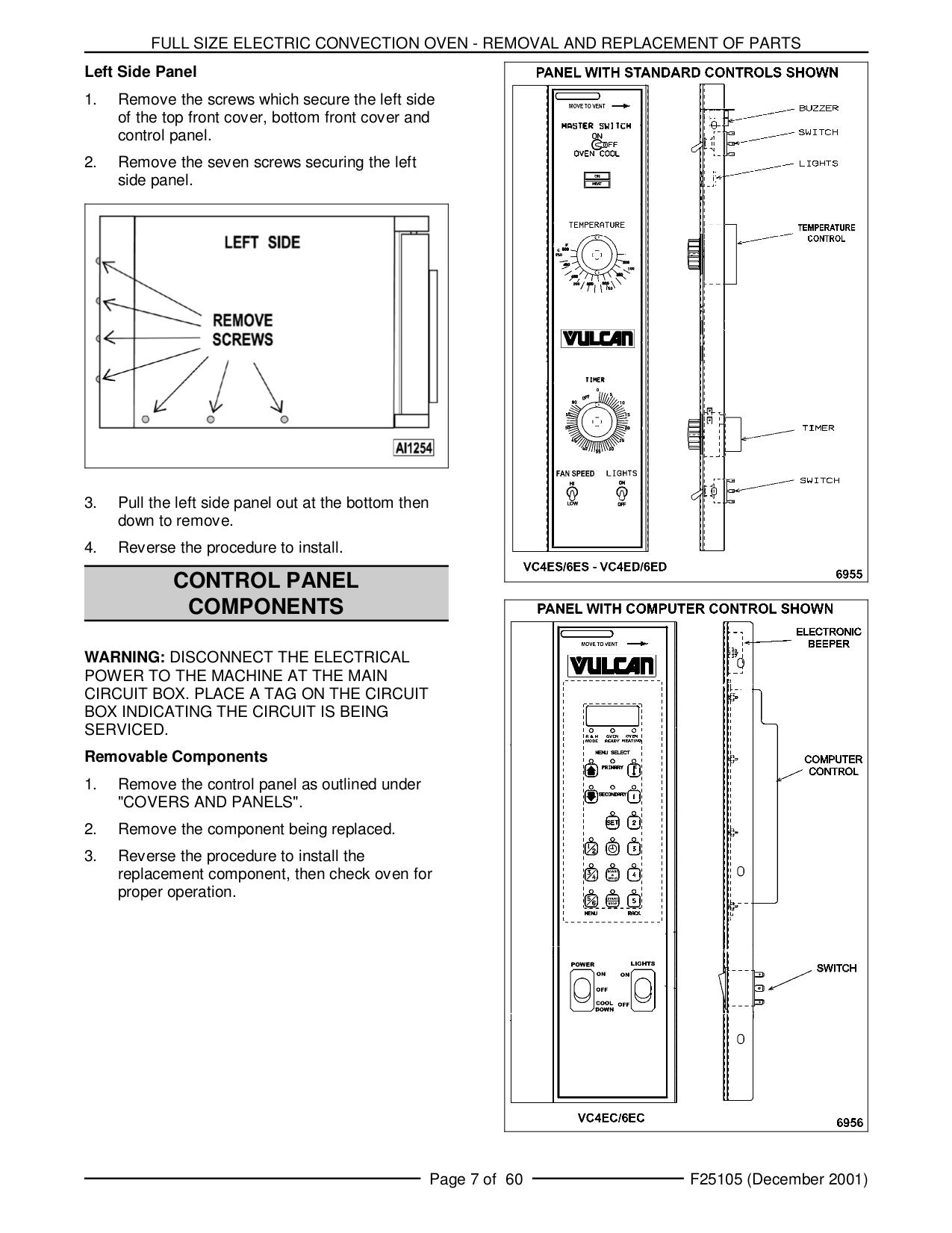 Vulcan Oven VC44ED pdf page preview