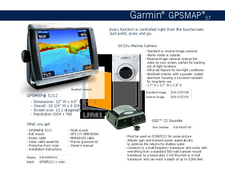 PDF manual for Garmin GPS GPSMAP 5212