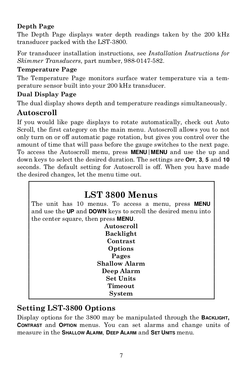 Pdf manual for lowrance other lst-3800 sonar.