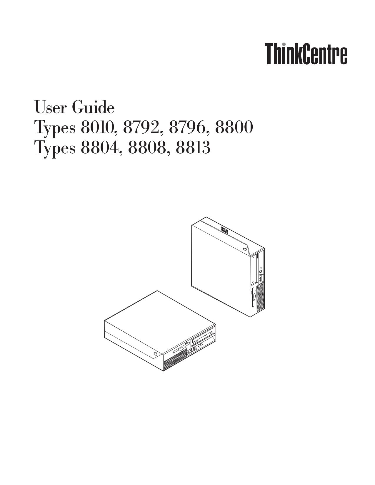 pdf for Lenovo Desktop ThinkCentre M55p 8813 manual