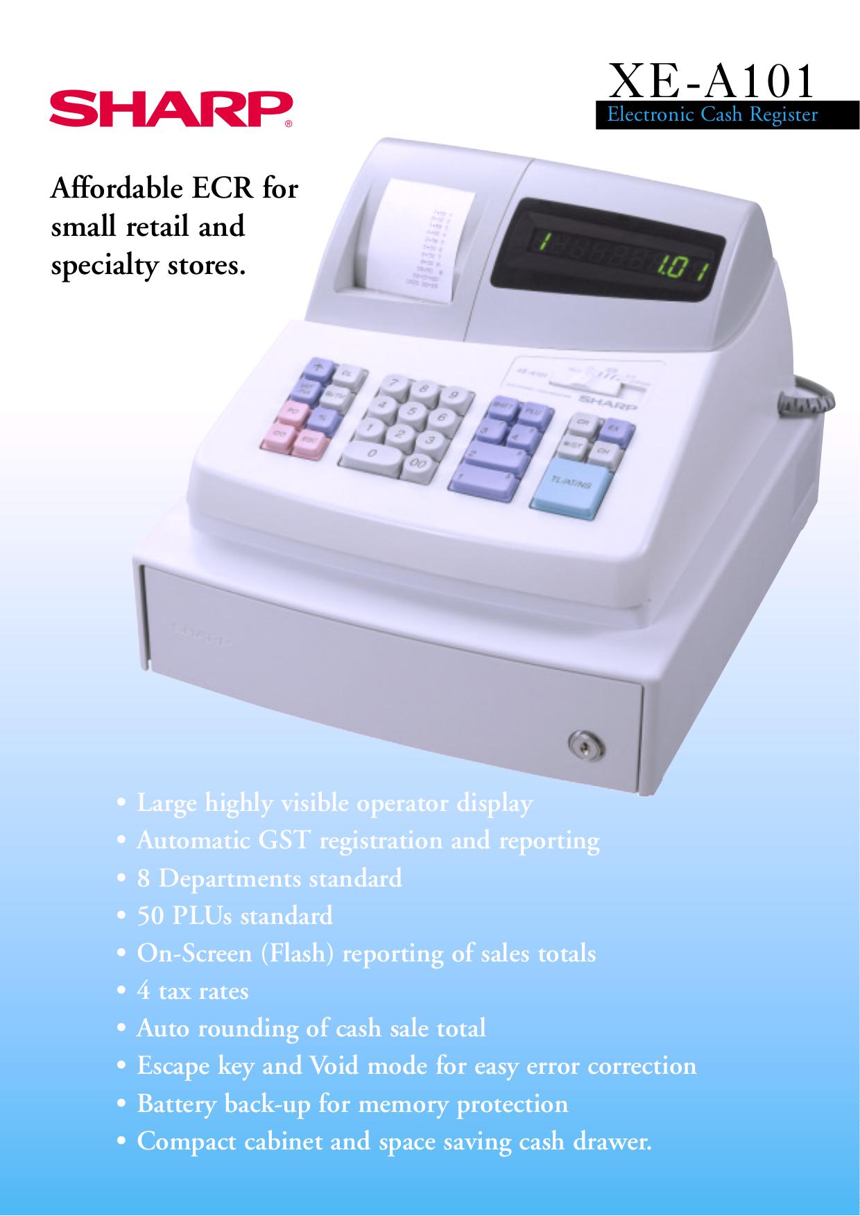 download free pdf for sharp xe a101 cash register other manual rh umlib com AIA A101 AIA A101