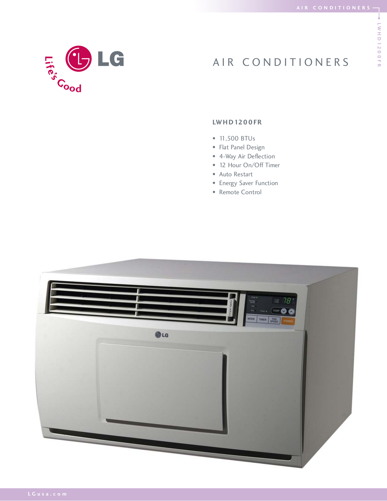 download free pdf for lg lwhd1200fr air conditioner manual. Black Bedroom Furniture Sets. Home Design Ideas