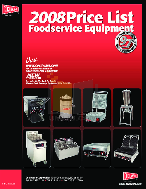pdf for Cecilware Other WBM-120 Waffle Makers manual