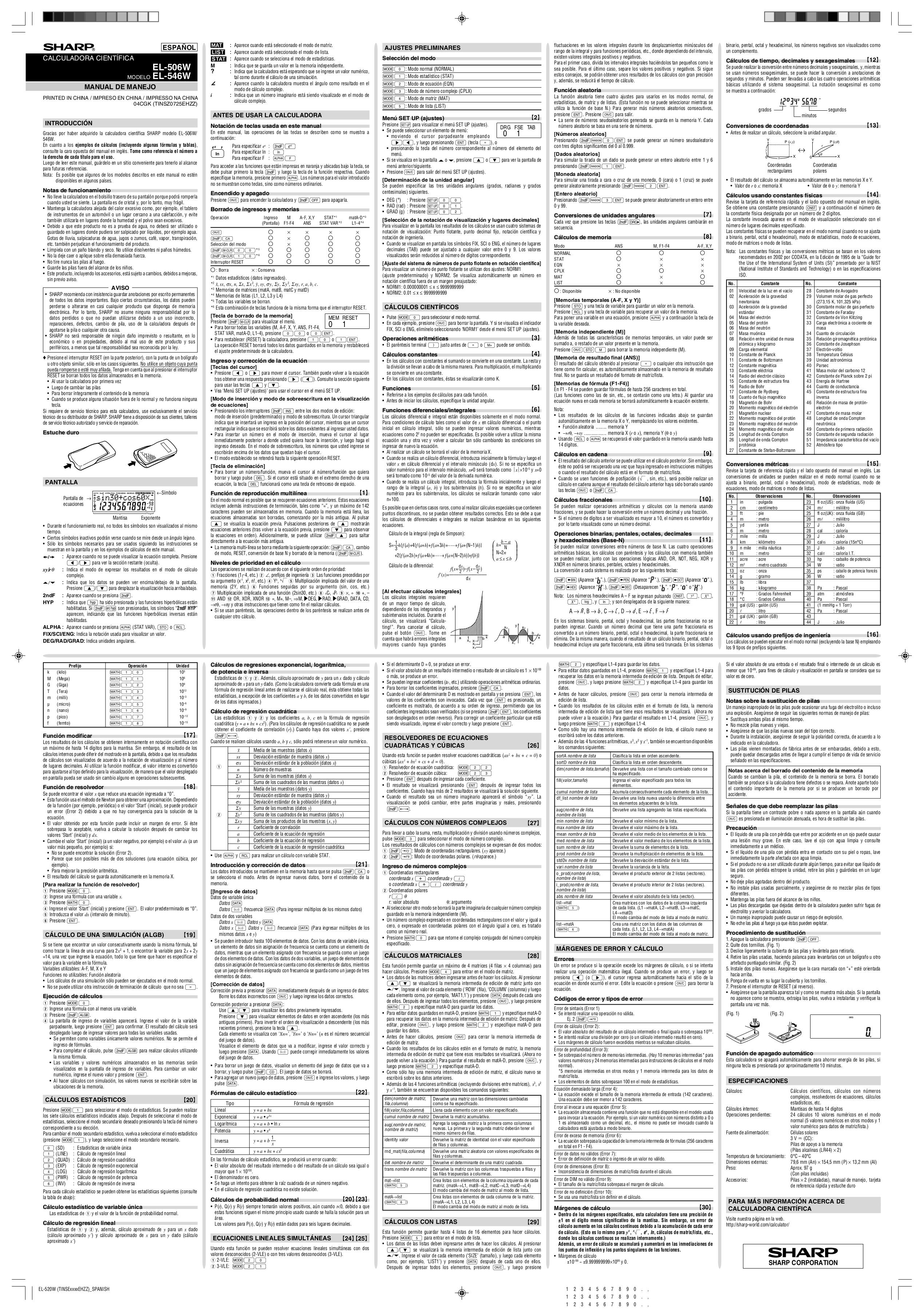 download free pdf for sharp el 506w calculator manual rh umlib com Sharp EL -2630PIII Calculator Sharp EL Printing Calculator 1630