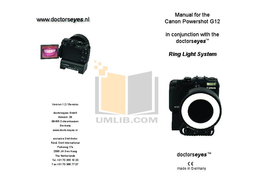 pdf for Canon Digital Camera Powershot G12 manual