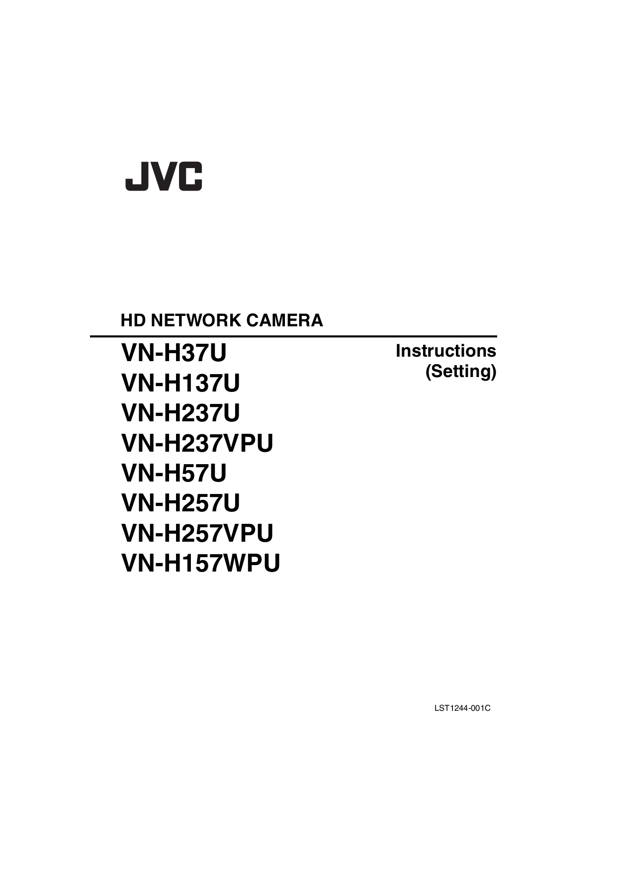 JVC Security Camera VN-H257U pdf page preview ...