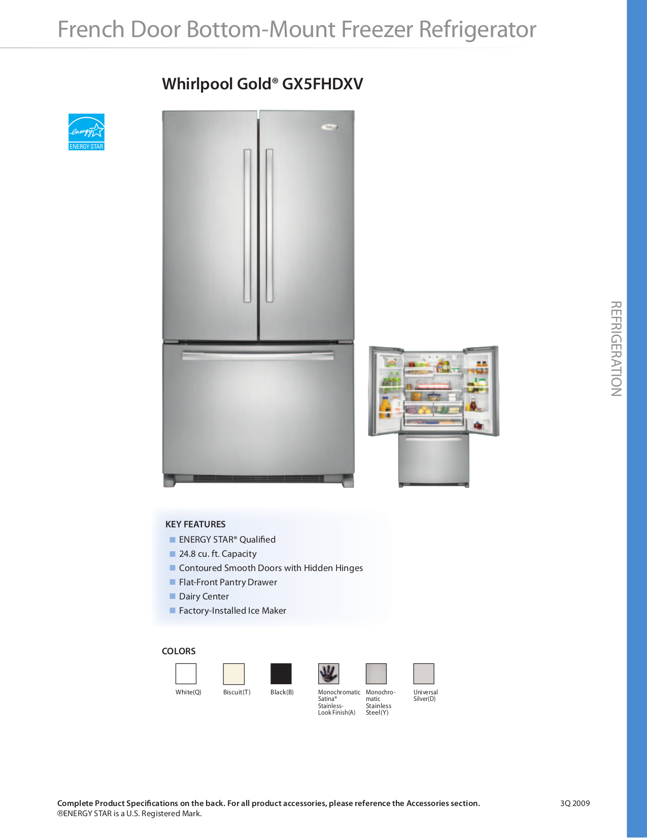 whirlpool french door refrigerator manual