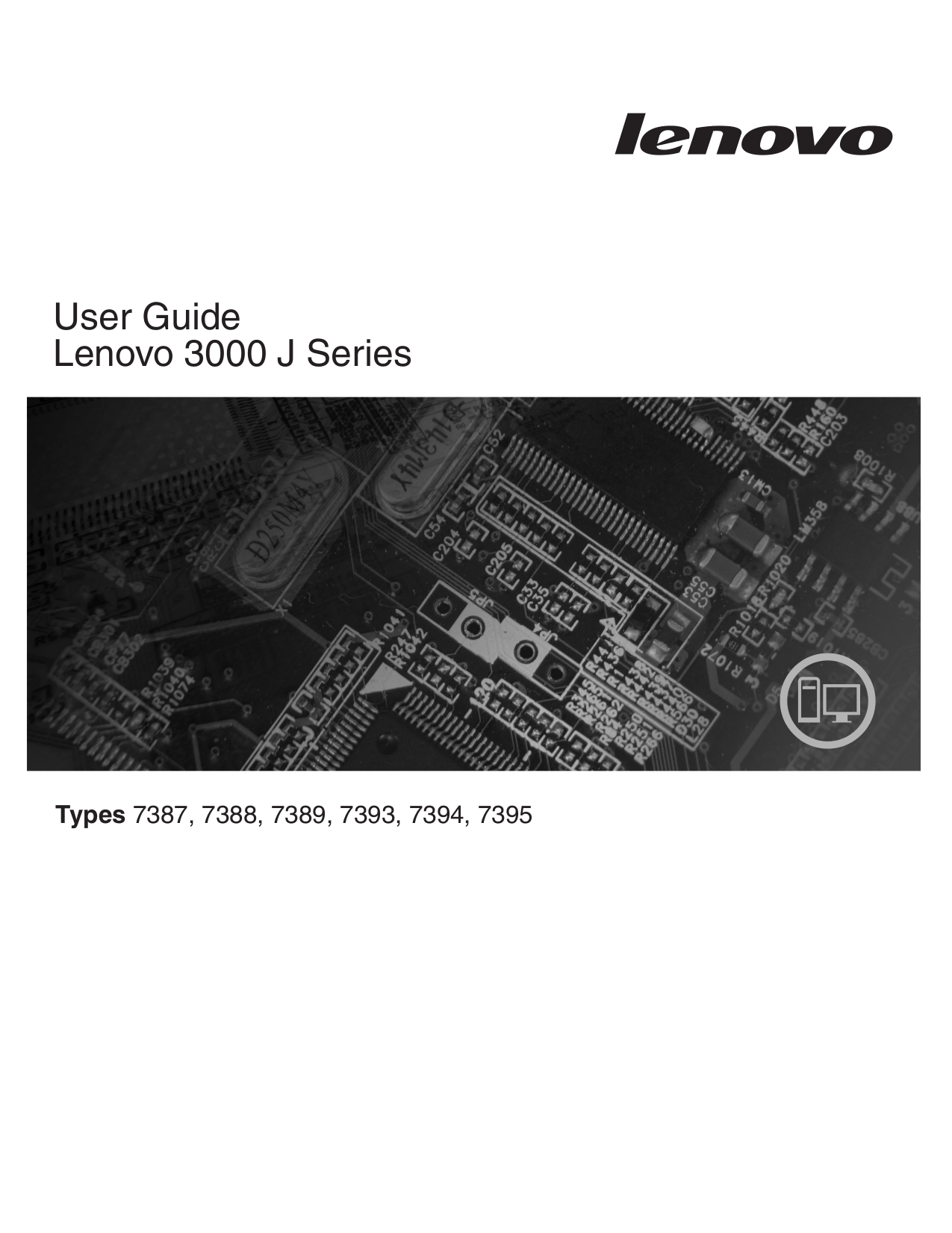 pdf for Lenovo Desktop 3000 J110 7395 manual