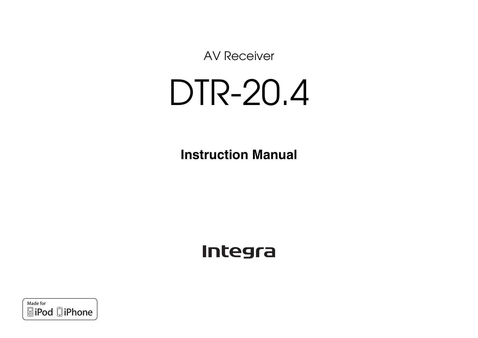 pdf for Integra Receiver DTR-7.2 manual