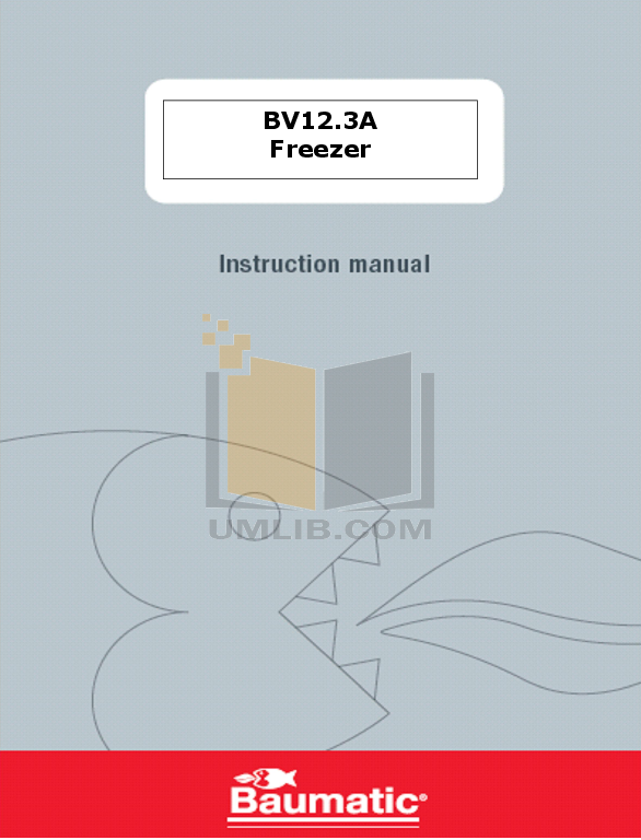 pdf for Baumatic Freezer BV12.2A manual