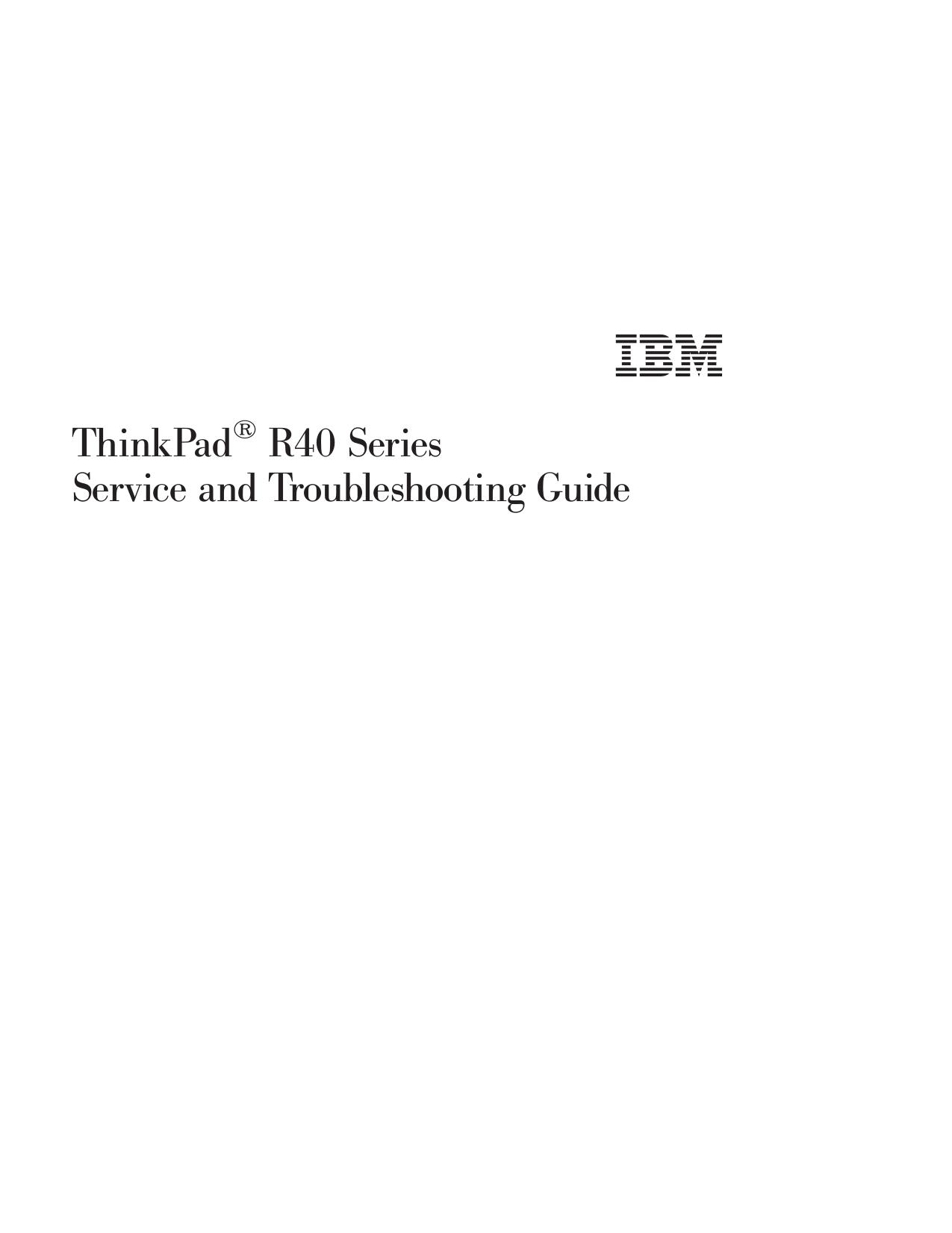 IBM Laptop ThinkPad i Series 1400 pdf page preview