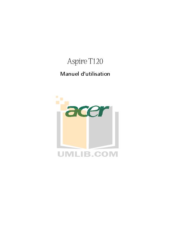 pdf for Acer Desktop Aspire T120 manual