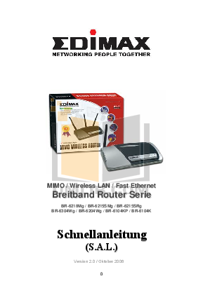 pdf for Edimax Wireless Router BR-6304Wg manual
