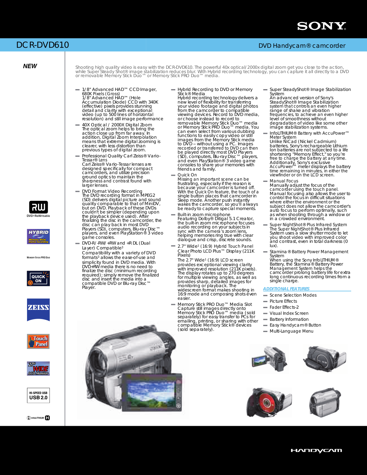 pdf manual for sony camcorders handycam dcr