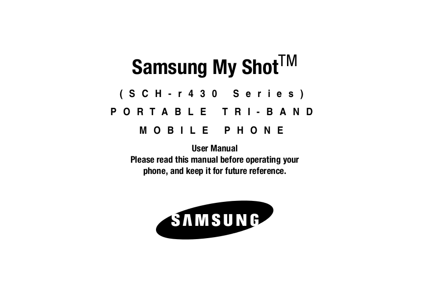 pdf for Samsung Cell Phone SCH-R430 manual