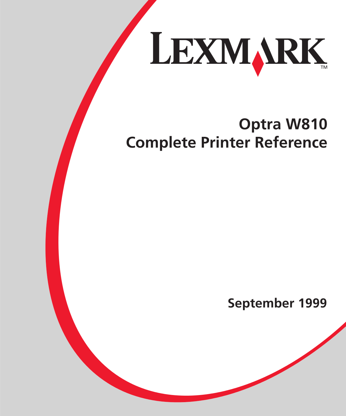 pdf for Lexmark Printer Optra W810 manual