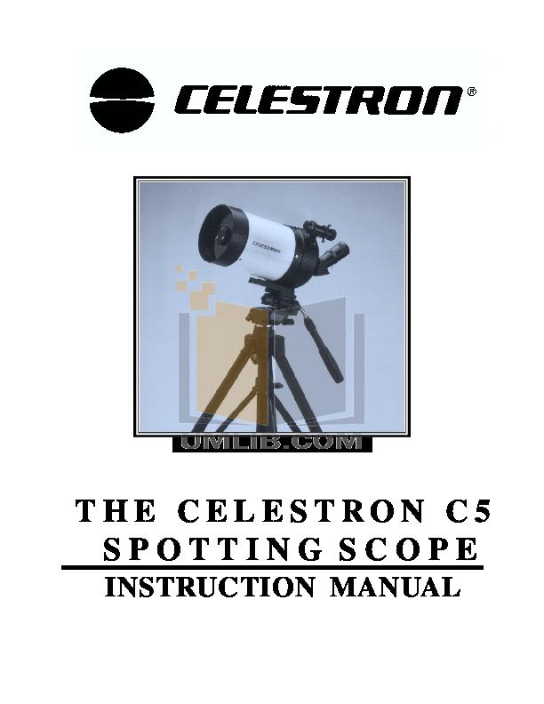 pdf for Celestron Other Ultima 100ED Spotting Scope manual