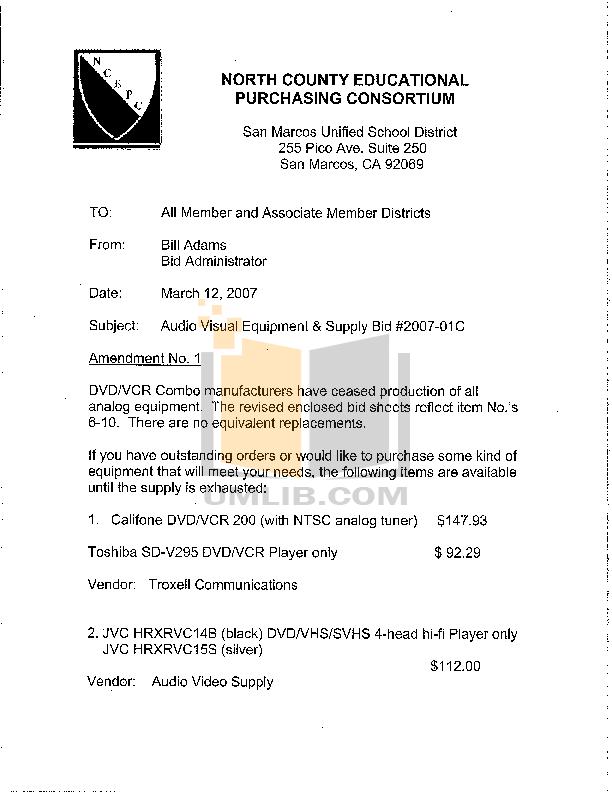 pdf for Califone Other 2455AV-02 Stereo Systems manual