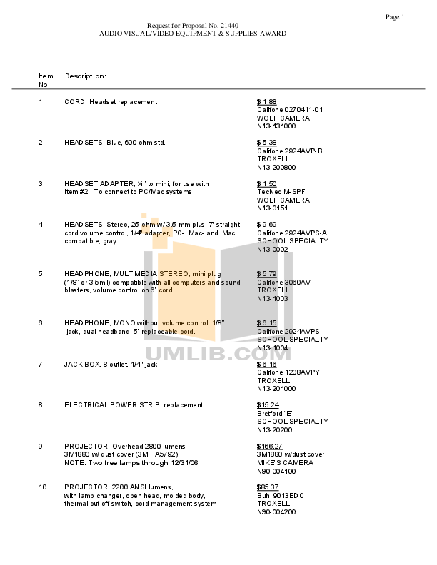 pdf for Califone Other 2455AV-02 Stereo Systems manual