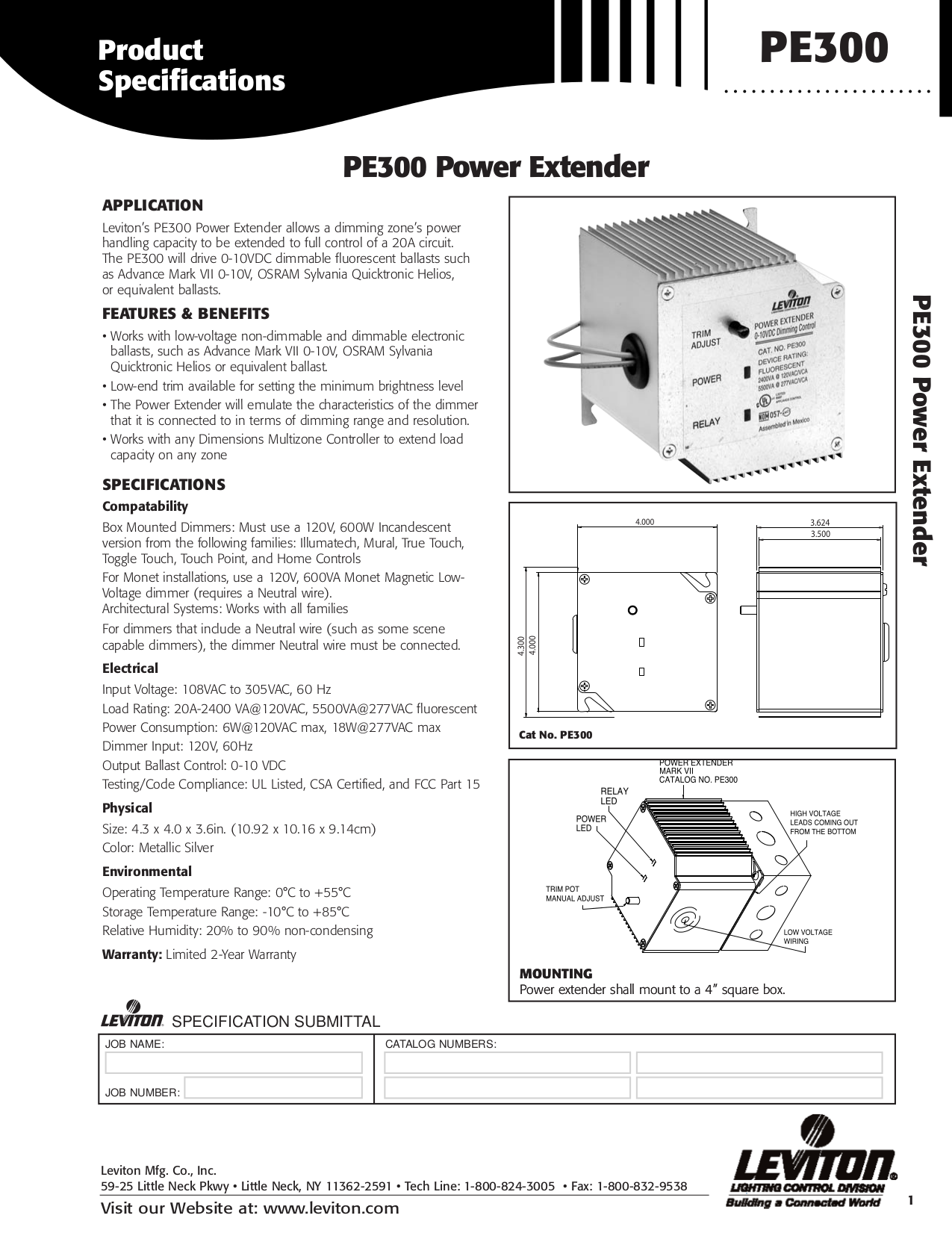 Download free pdf for Leviton PE300 Power Extender Other manual
