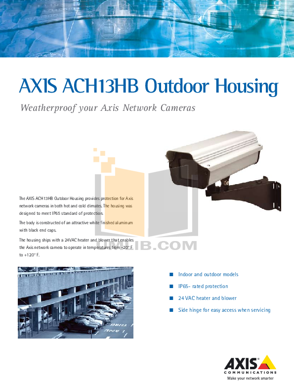 pdf for Axis Security Camera ACH13HB manual