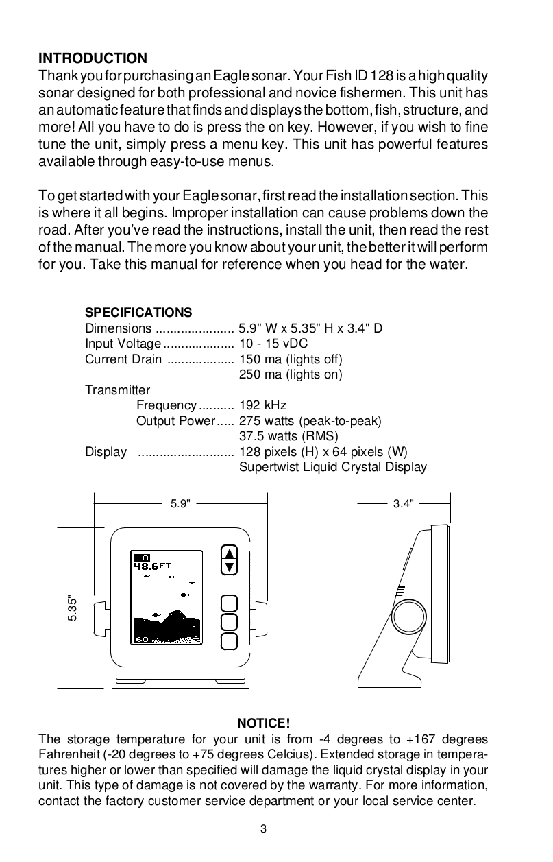 Humminbird Other ID Sixty Fishfinder pdf page preview