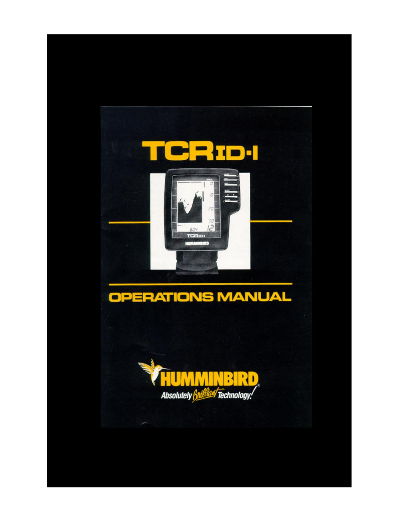 pdf for Humminbird Other ID Sixty Fishfinder manual