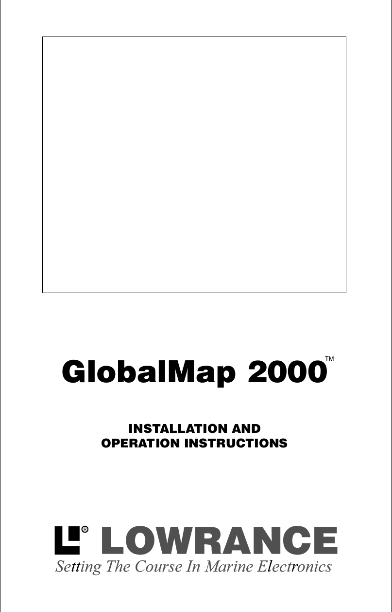 pdf for Lowrance GPS LMS-350A manual