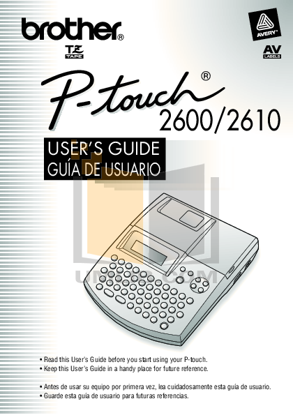 pdf for Brother Printer PT-2600 manual