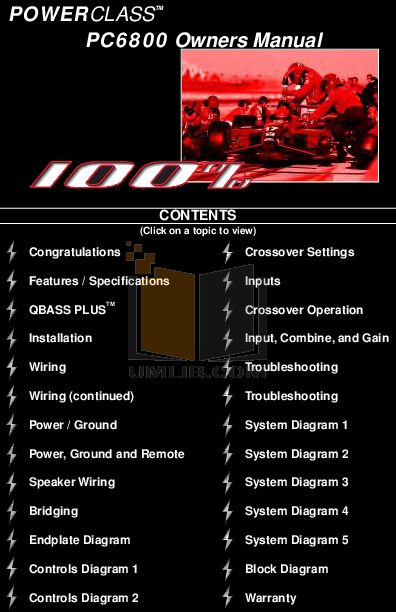 pdf for DEI Subwoofer PrecisionPower PC102 manual