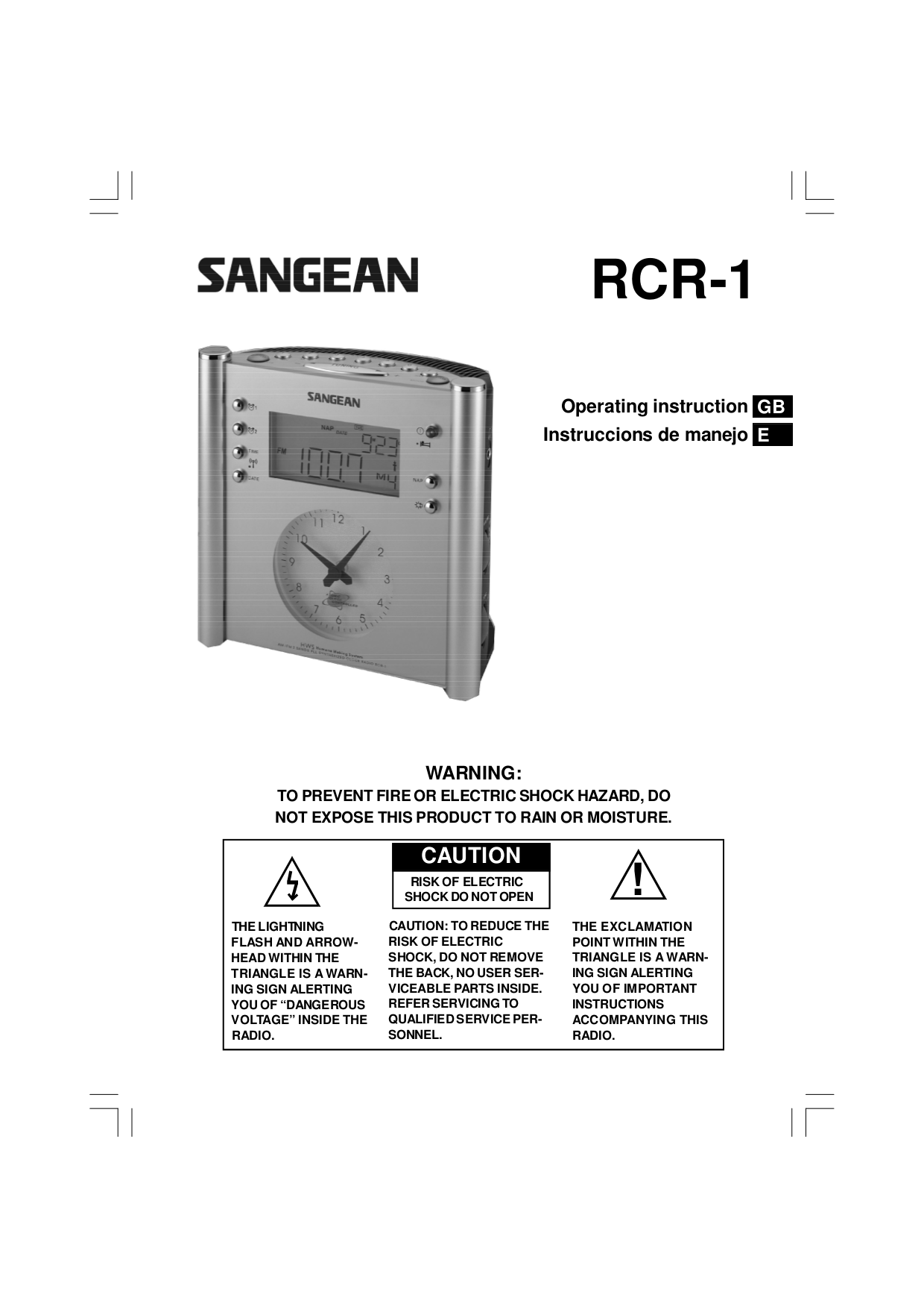 download free pdf for sangean rcr 3 clock radio manual rh umlib com Sangean CC Radio Sangean CC Radio