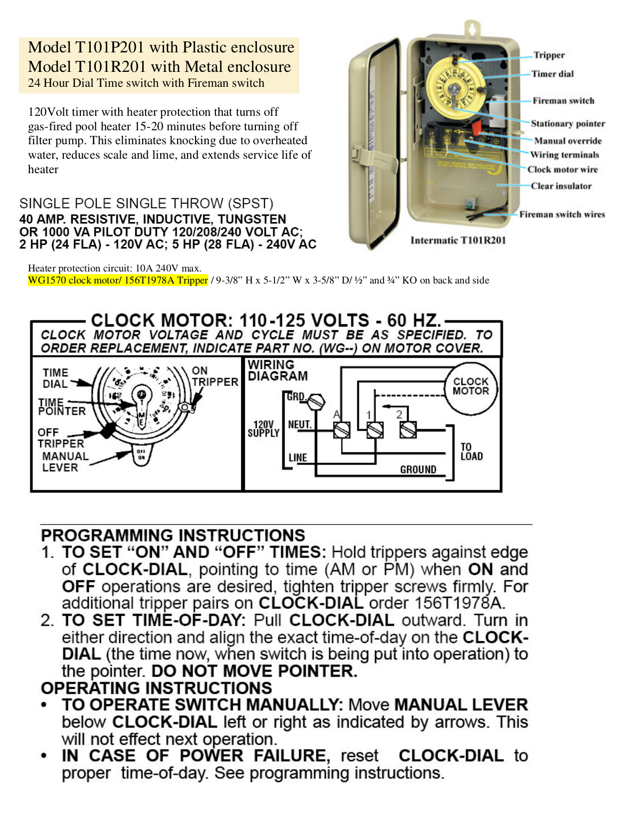 Intermatic T101R201 instruction manual.pdf 0 intermatic t101r wiring diagram intermatic t101 troubleshooting  at fashall.co