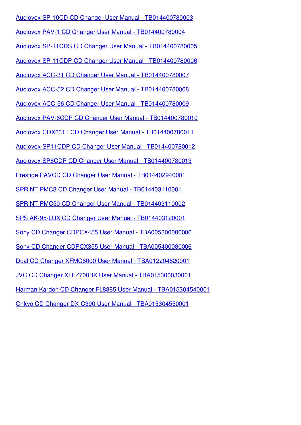 ... JVC CD Player CH-X1500RF pdf page preview