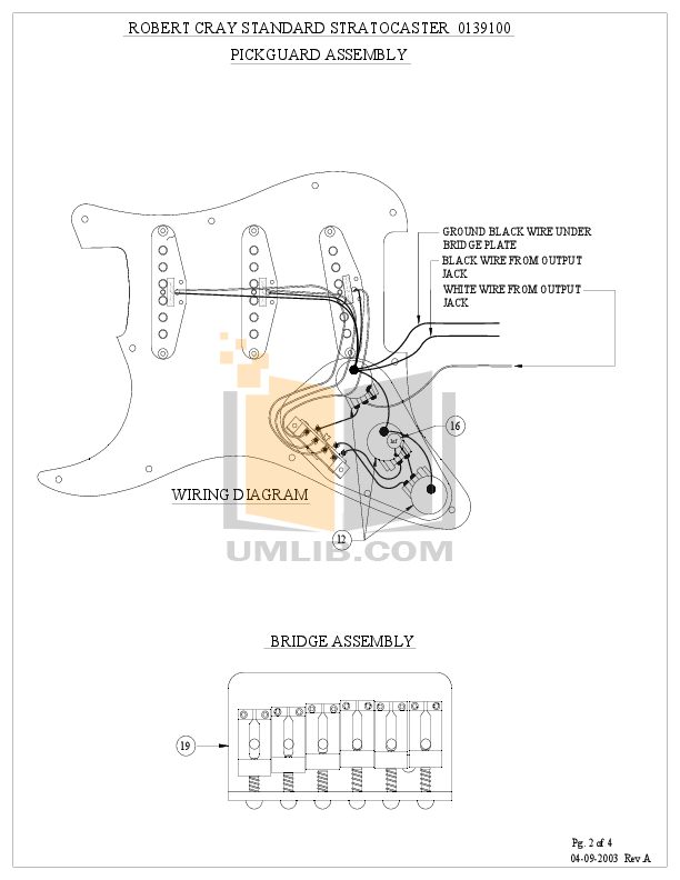 Robert Cray Fender Strat Wiring Diagram